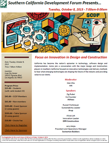 Focus on Innovation in Design and Construction, 10.08.13